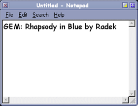 GEM: Rhapsody in Blue