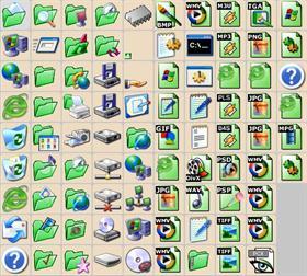 Green XP Folders