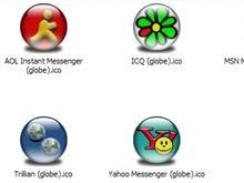 Messenger Apps XP Icons (globe)