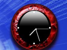 Grunge Red Clock 1.0