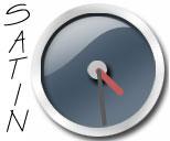 Dark Blue Satin Clock