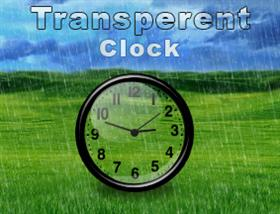 transperent clock
