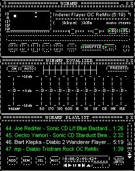 Black Winamp ASCIIified