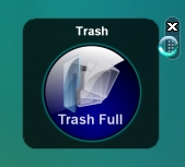 Vista Crystal Blue Trash Bin Rounded Corners