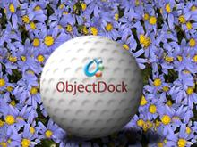 Golfball with ObjectDock Logo