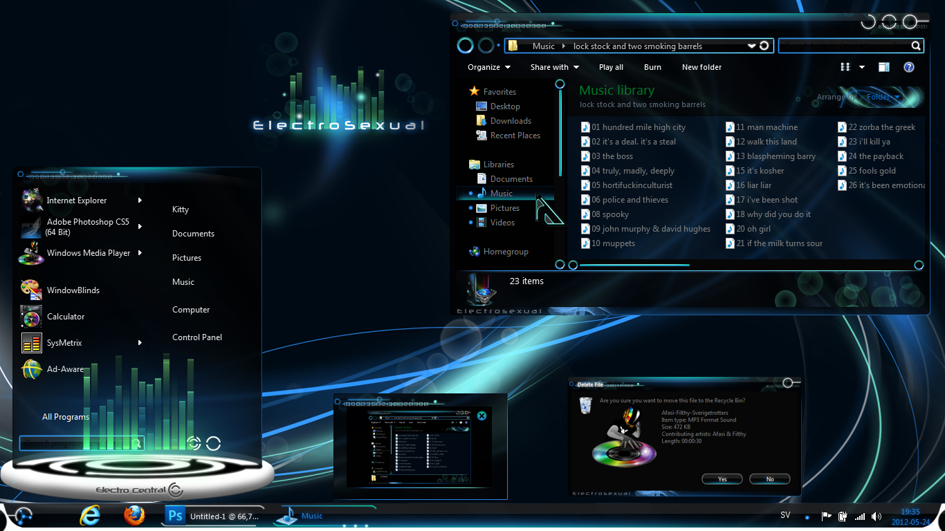 Electrosexual theme for windows 7