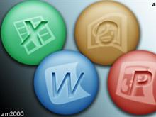 Microsoft Programs Circle Icons
