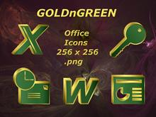 GOLDnGREEN Office Icons