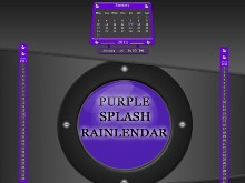 Purple Splash Rainlendar
