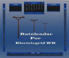 Electricgrid Rainlendar