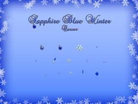 Sapphire Blue Winter Cursor