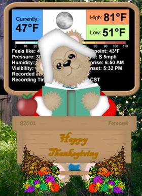 Beardows Weather Thanksgiving Addon