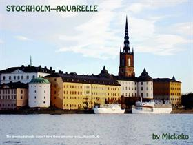 Stockholm---Aquarelle