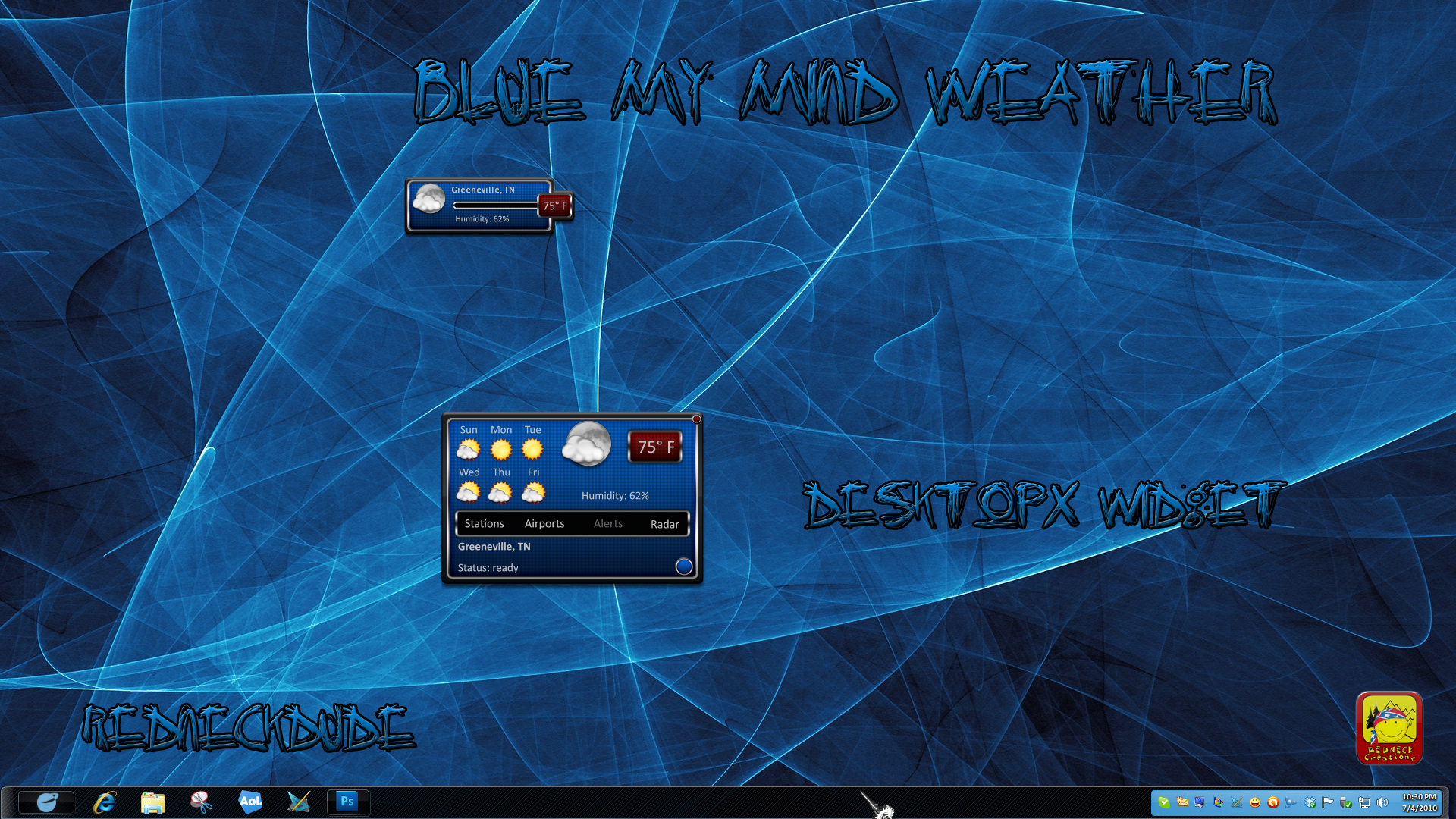 Blue My Mind Weather Widget
