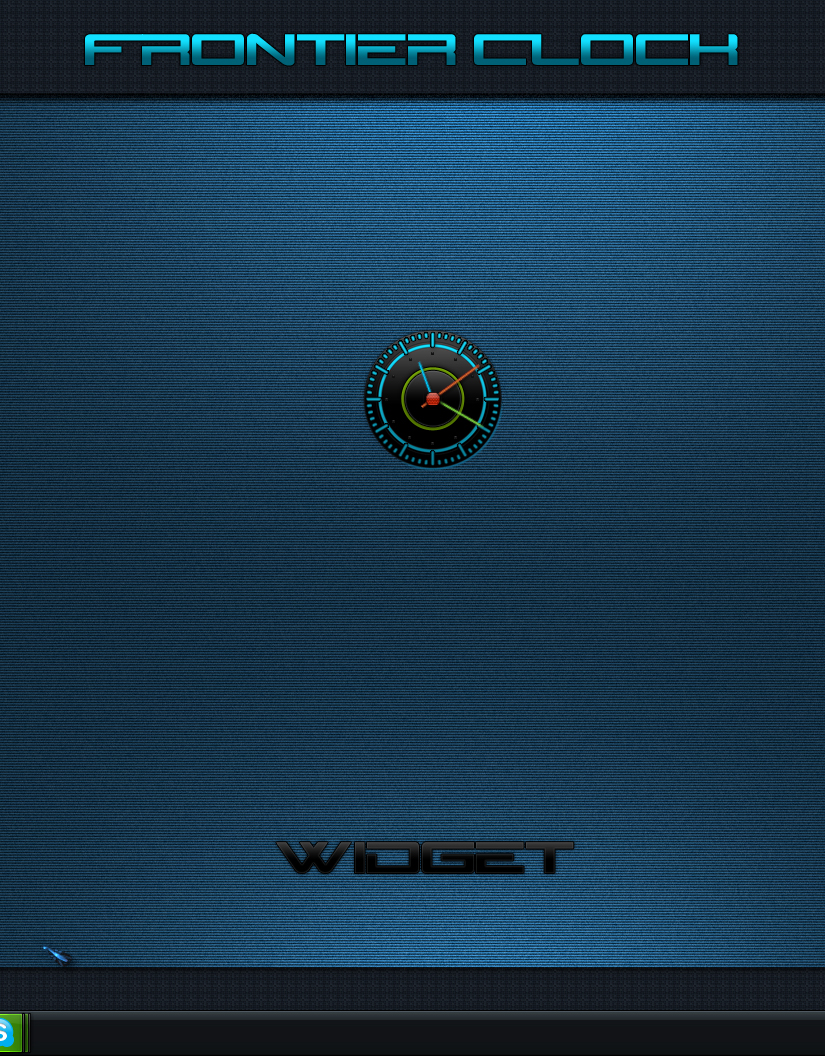 Frontier Clock Widget