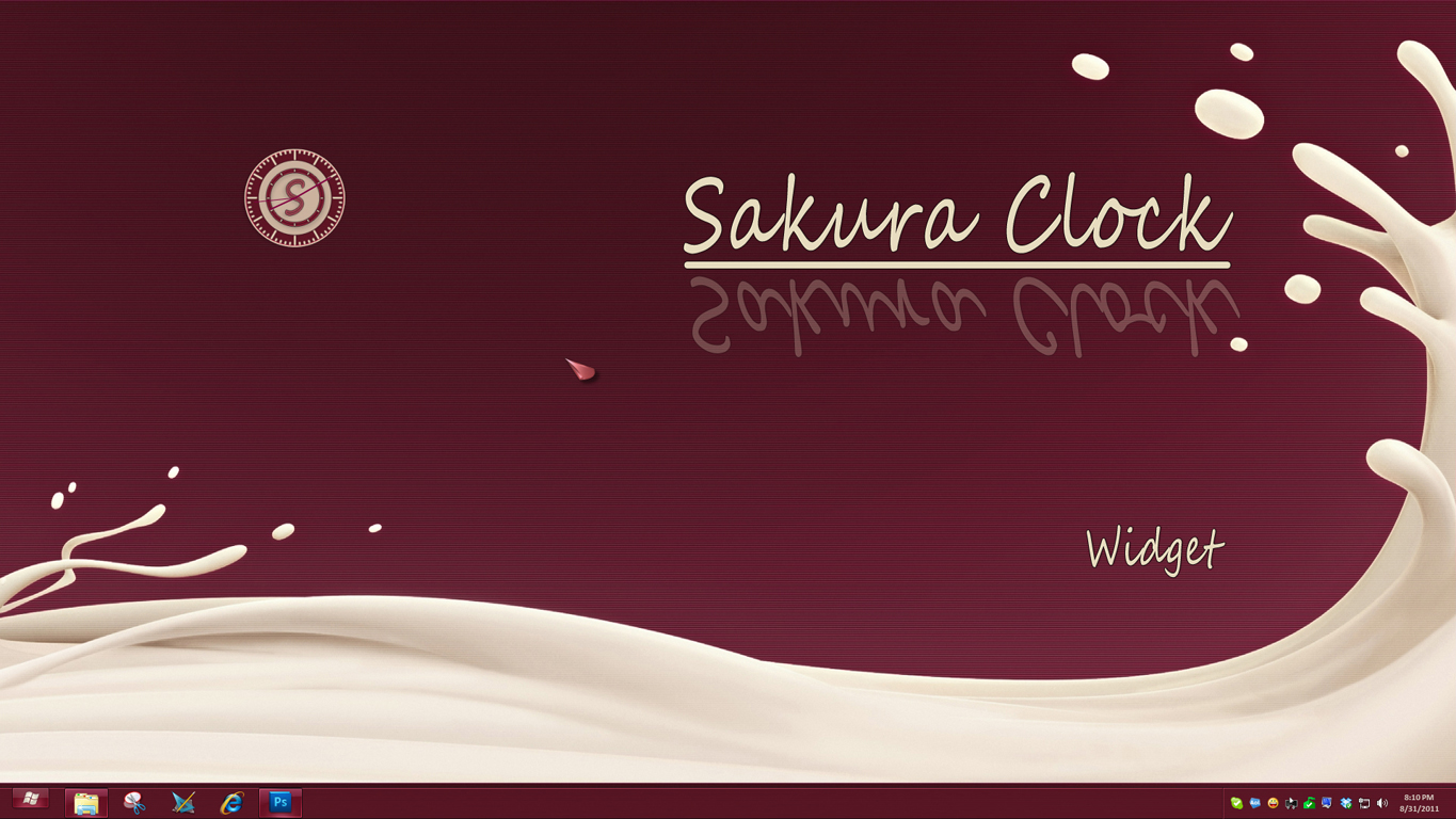 Sakura Clock Widget