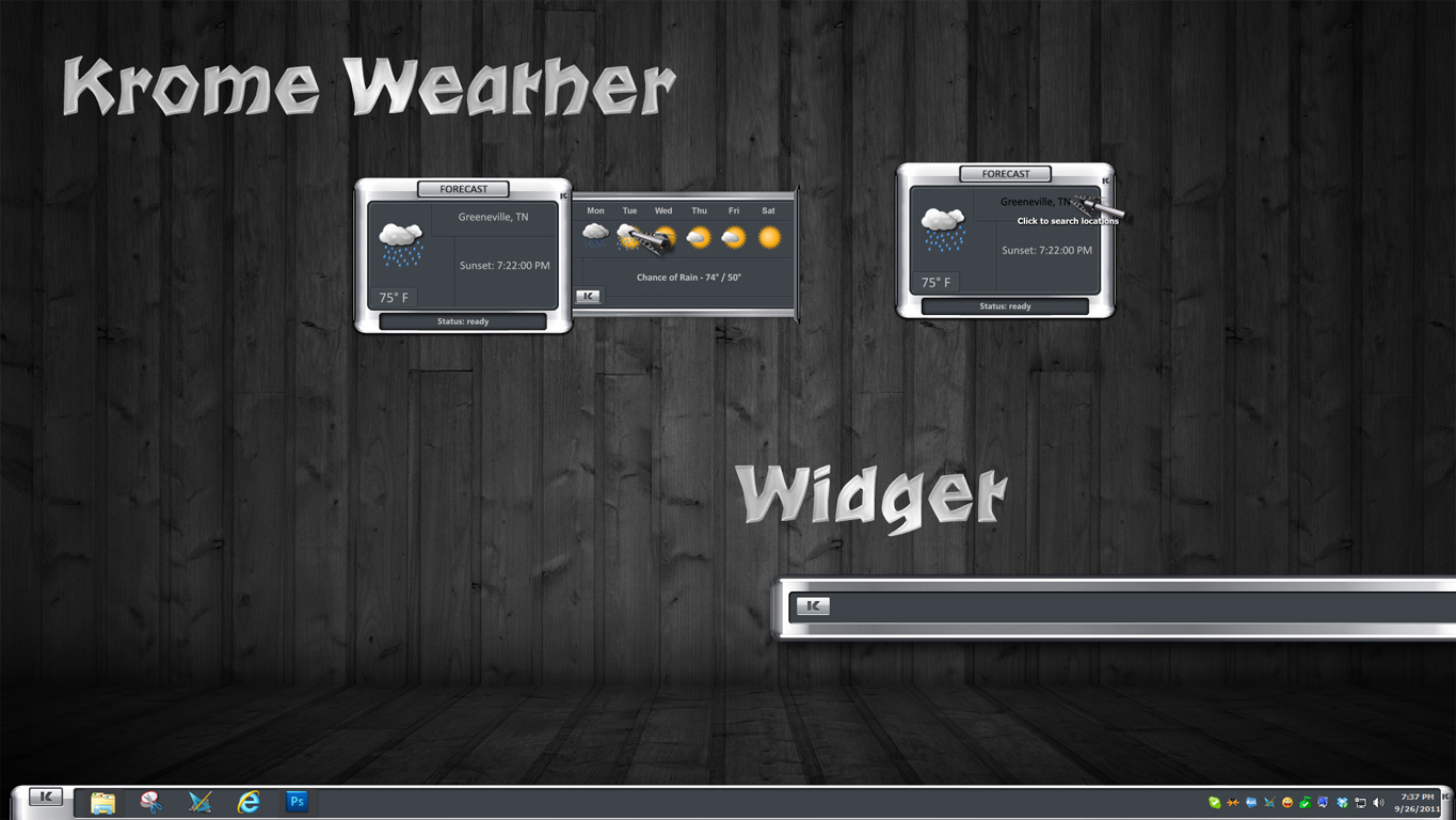 Krome Weather Widget