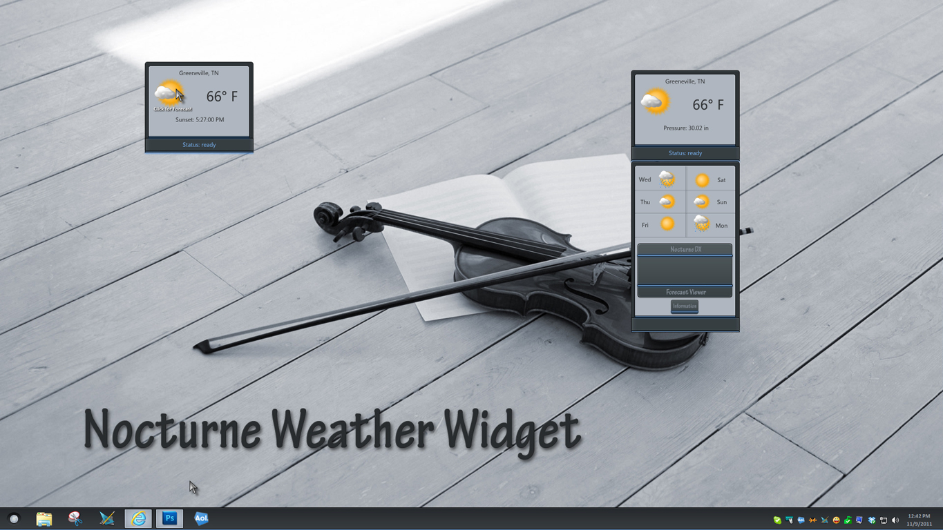 Nocturne Weather Widget