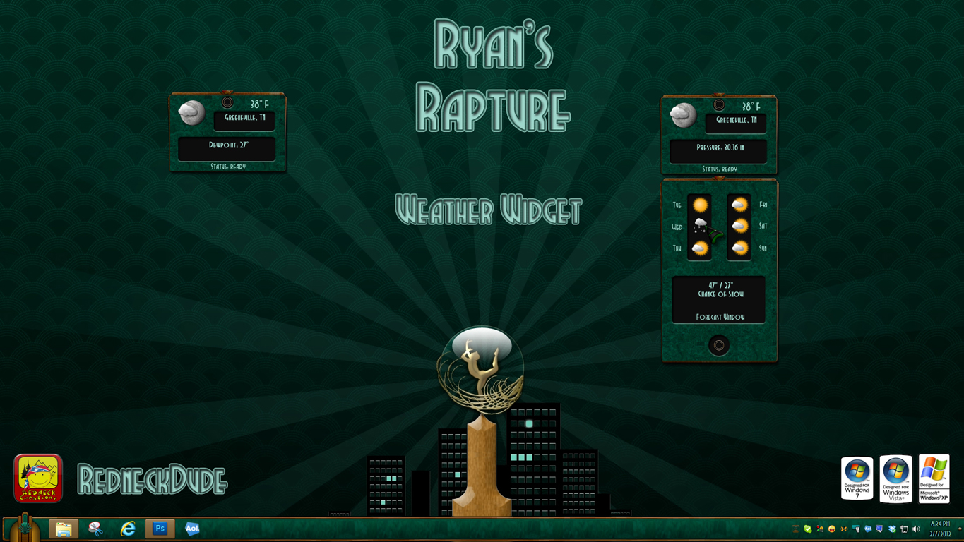Ryan's Rapture Weather Widget