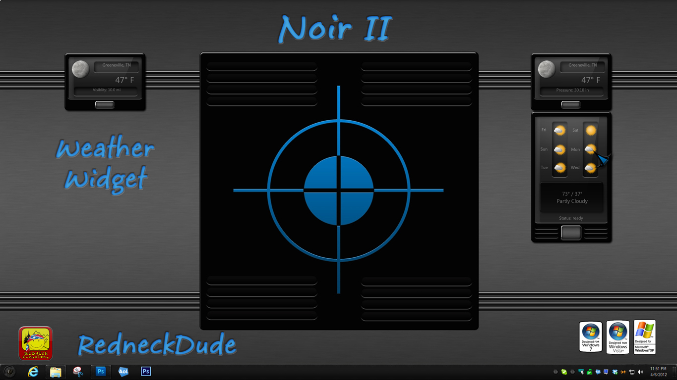 Noir II Weather Widget
