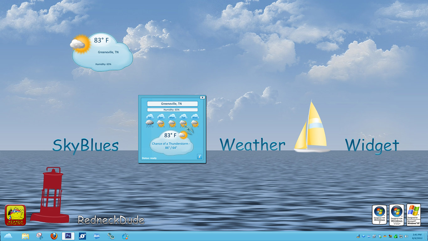 SkyBlues Weather Widget