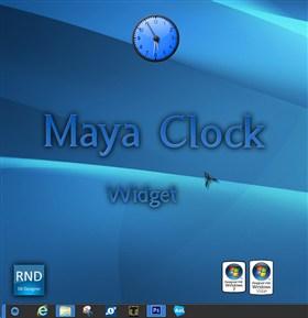 Maya Clock Widget