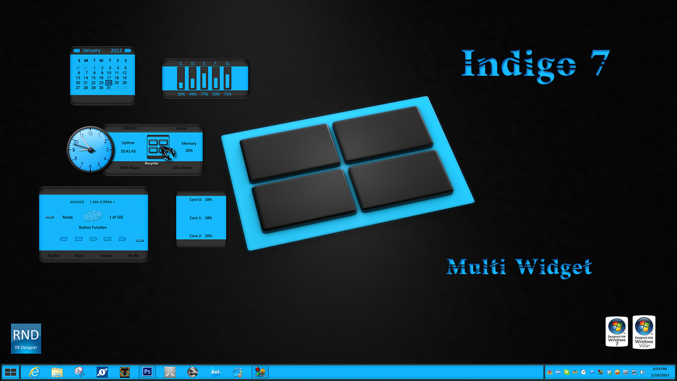 Indigo7 Multi Widget