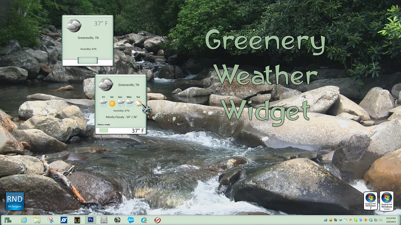 Greenery Weather Widget