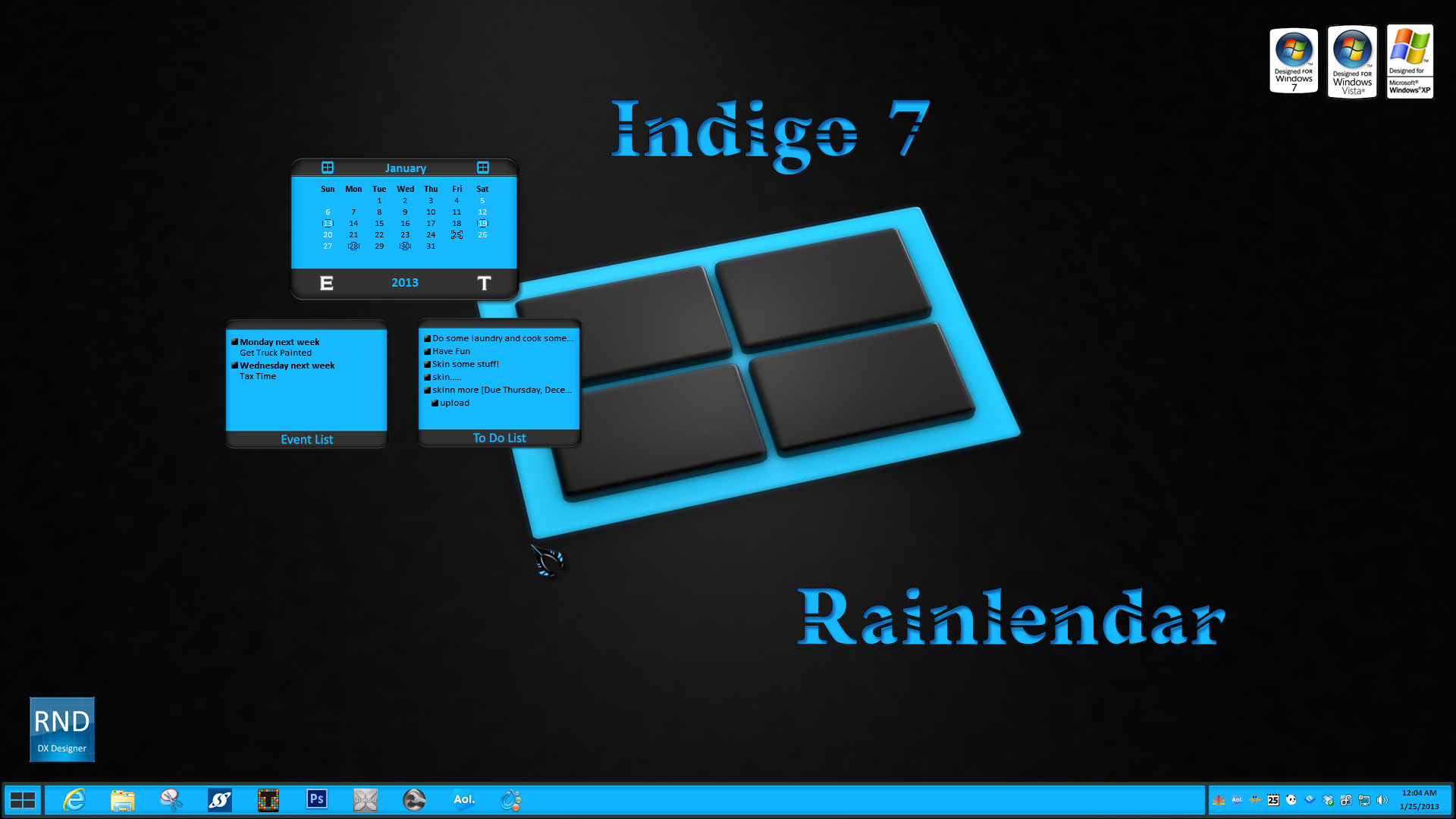 Indigo7 Rainlendar