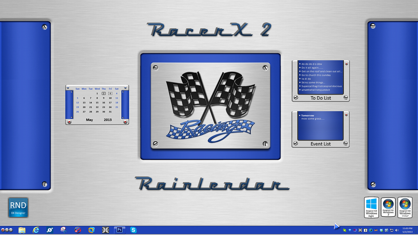 RacerX2 Rainlendar