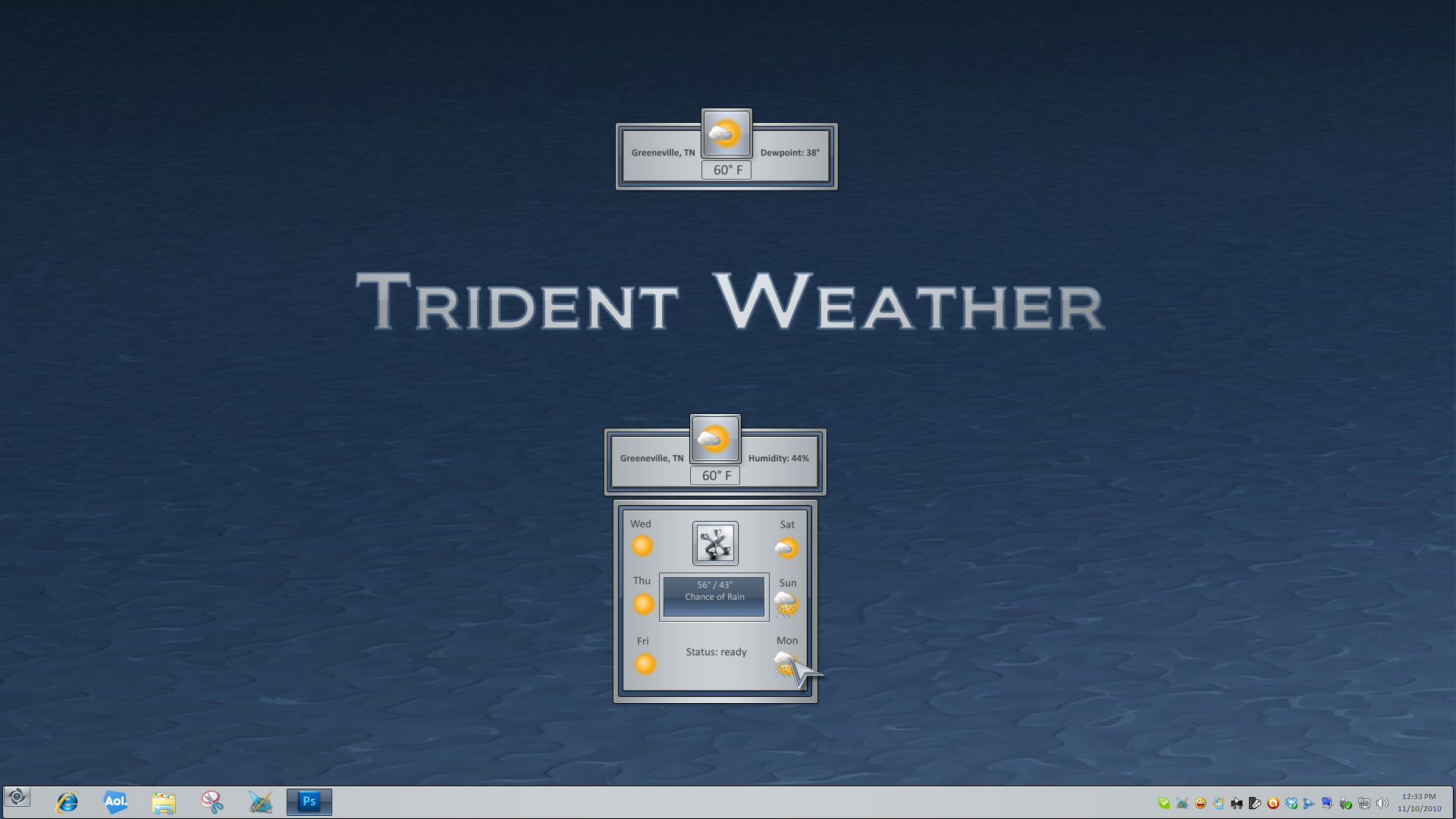 Trident Weather Gadget