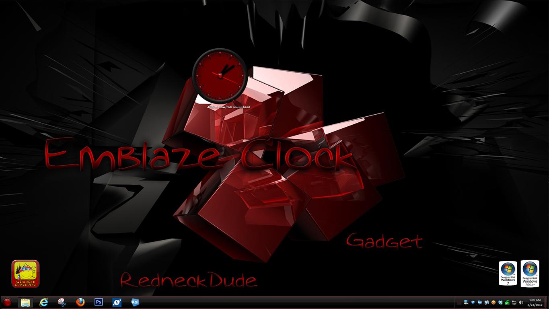Emblaze Clock Gadget