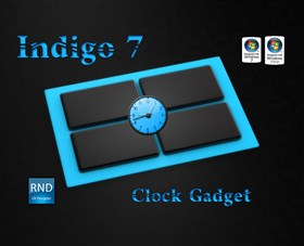 Indigo7 Clock Gadget