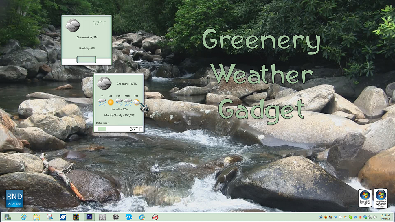 Greenery Weather Gadget