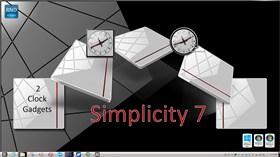 Simplicity Clock Gadget