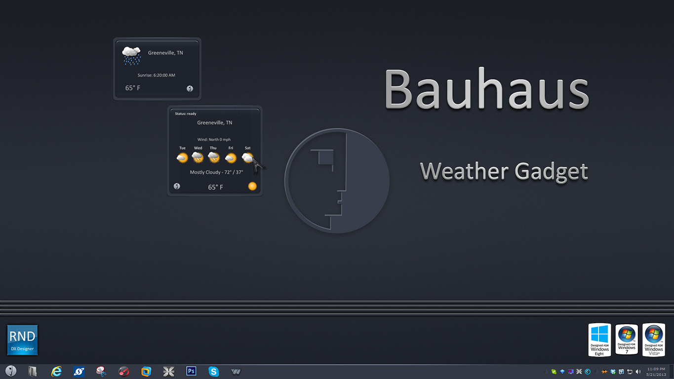 Bauhaus Weather Gadget