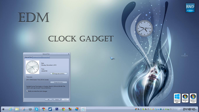 EDM Clock Gadget