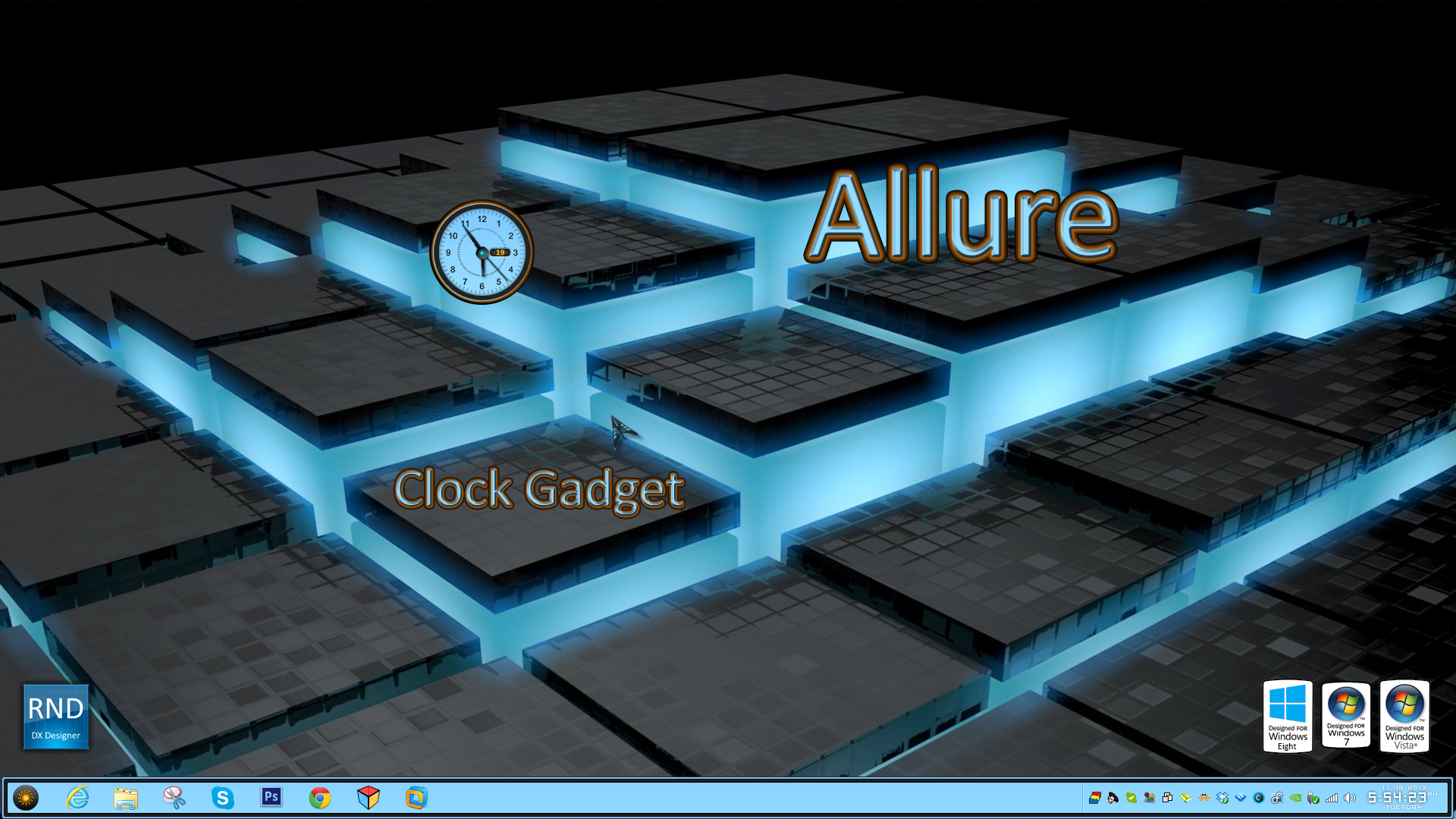 Allure Clock Gadget