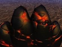Flaming Lava Rocks Dream