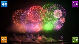 Rainbow Fireworks w Sound Effects