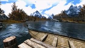 Skyrim River Scene