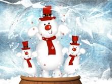 Snowman Snow Globe II