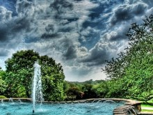 HDR Spring Fountain