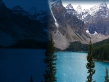 Moraine Lake Night to Day