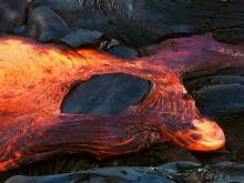 Lava Flowing