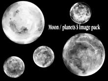 Moons planets 5 image pack