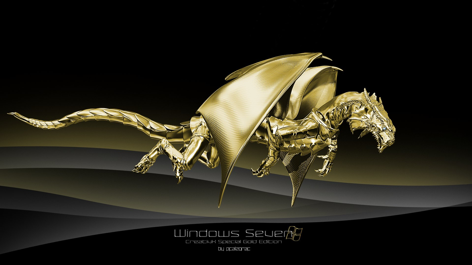 gold dragons wallpaper - photo #32