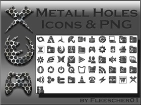 Metall Holes Icons
