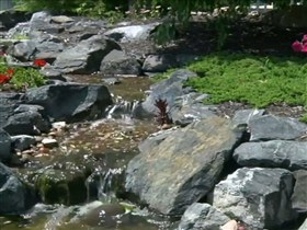 my backyard waterfall