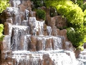 brown rock waterfall